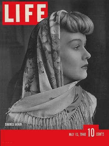 Life Magazine, May 13, 1940 - Silk shawls in fashion | LIFE