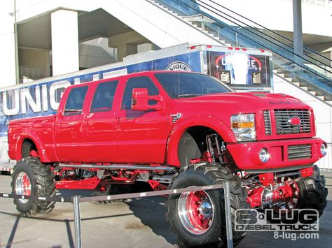 Sema 2008 Custom Truck Show Lifted Ford Truck
