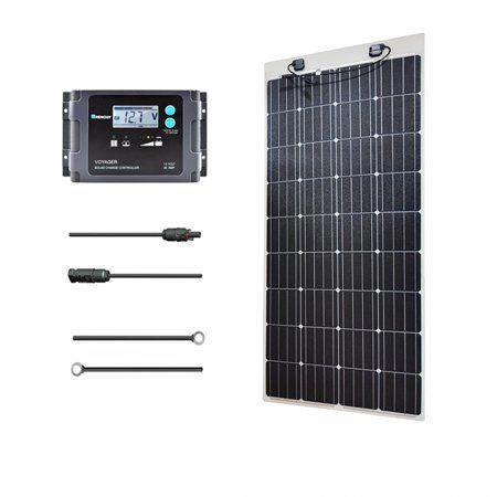 Renogy 160 Watt 12 Volt Solar Marine Kit With Ultra Flexible Solar Panel Waterproof Controller And In 2020 Flexible Solar Panels Best Solar Panels Solar Technology