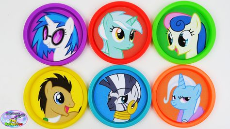 My Little Pony Learning Colors Play Doh Cans MLP Episode Surprise Egg