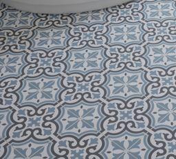 Wickes Melia Blue Patterned Porcelain Tile 200 X 200mm Wickes Co