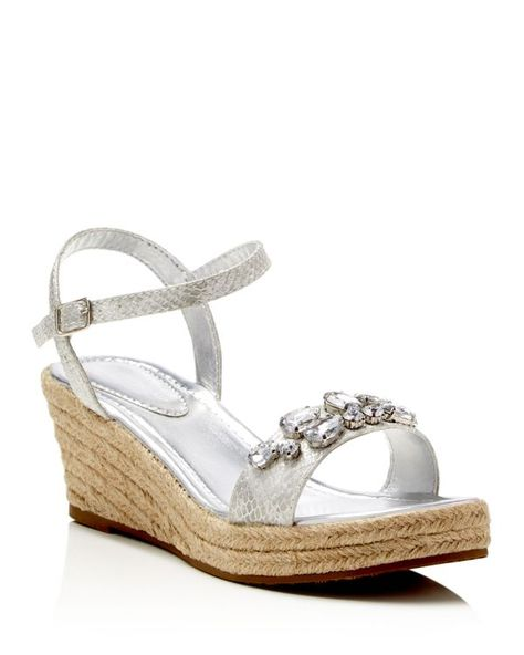 c4f6fb152a4 Ivanka Trump Girls  Gessa Snake Embossed Metallic Wedge Sandals - Little Kid