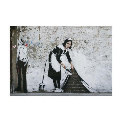 Sweep it Under Adhesive Art Print