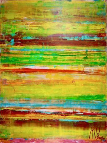 Abstract Acrylic original art Golden horizon SET OF 2