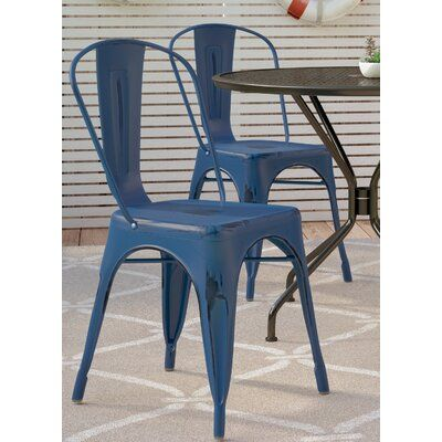 Breakwater Bay Dickens Stacking Patio Dining Chair With Images