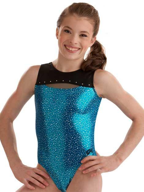 FlipFlop Leos Gymnastics Leotard  Open Back Starry Starry Night