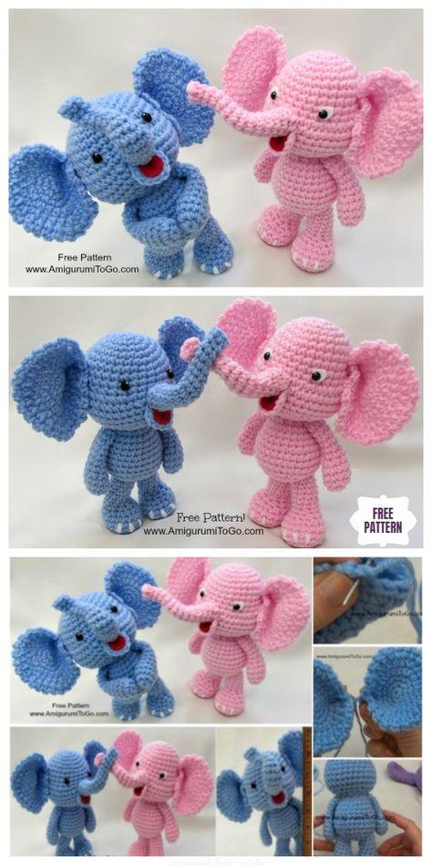 DIY Baby Elephant Crochet Free Patterns & Tutorials | 948x474