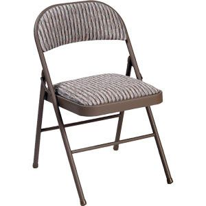 meco deluxe padded upholstered folding chair (model #027p25s84m