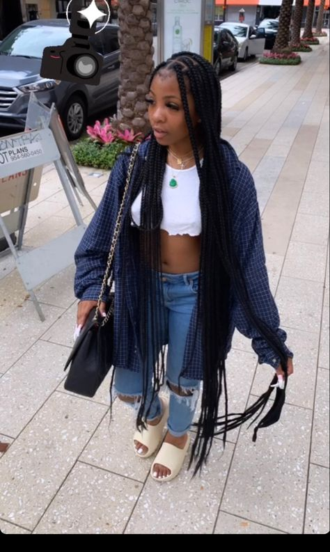 Chill Outfits, Dope Outfits, Casual Outfits, Summer Outfits, Fashion Outfits, Fashion Ideas, Fashion Hacks, Fashion Tips, Black Girl Braided Hairstyles