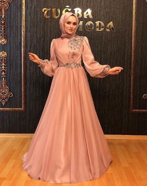 2020 Tesettur Soz Nisan Elbisesi Modelleri Alimli Kadin Elbise Elbiseler Elbise Modelleri