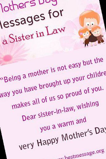 21 Mother S Day Messages For Sister In Law Mothers Day Quotes From Daughter In Law Funny 2 In 2021 Mothers Day Quotes Message For Sister Happy Mother S Day