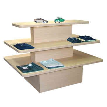 Prestige Rectangular 3 Tier Display Table Wood Display Store Fixtures Retail Display