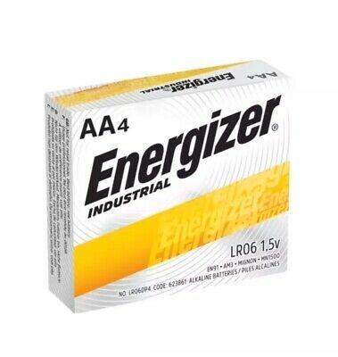4 Energizer Industrial Aa 1 5v Alkaline Batteries En91 Lr6 Lr06 Energizer Alkaline Battery Energizer Battery
