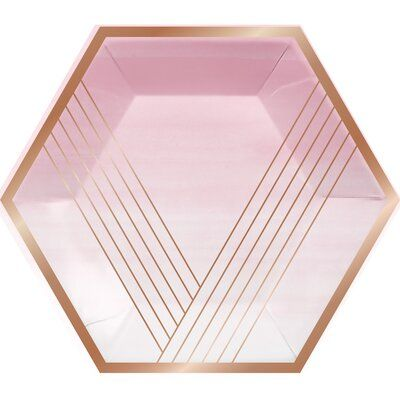The Party Aisle Banquet Paper Disposable Dinner Plate In 2021 Rose Gold Party Plates Plastic Dinnerware