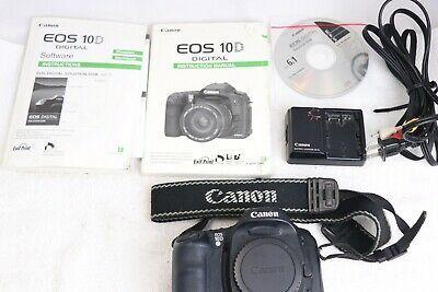 Canon Eos 10d 6 3mp Digital Slr Camera Body Flash Batteries Digital Camera Digital Slr Camera Camera