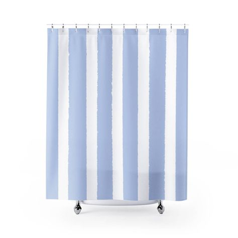 Periwinkle Shower Curtain Periwinkle Striped Shower Curtain