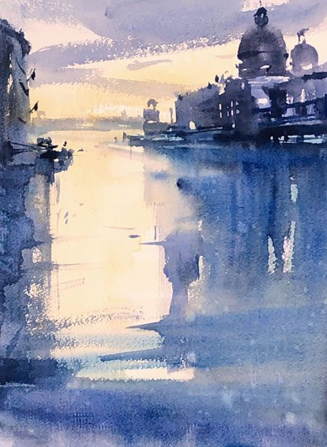 Gary Tucker Venice Peinture Aquarelle Dessin