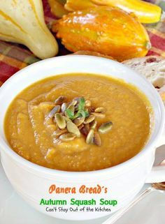 Panera Bread's Autumn Squash Soup | Can't Stay Out of the Kitchen | Amazing #copycat recipe with just a hint of #cinnamon and a touch of cur...