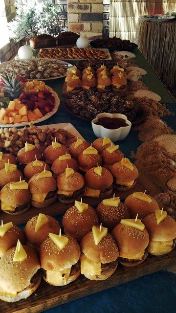 Hawaiian Luau Party Food Table