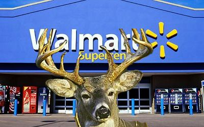 CUSTOMERS AND WORKERS TACKLE DEER INSIDE WALMART