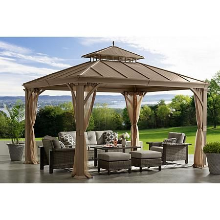 Member S Mark Salemo Hardtop Gazebo 10 X 12 Sam S Club Hardtop Gazebo Backyard Gazebo Pergola Patio