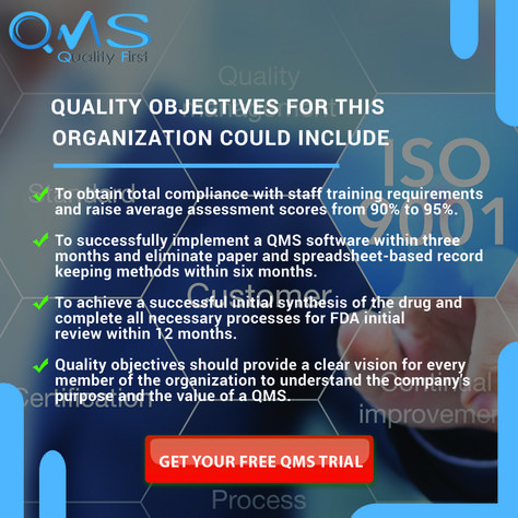 Quality objectives for this organization could include: