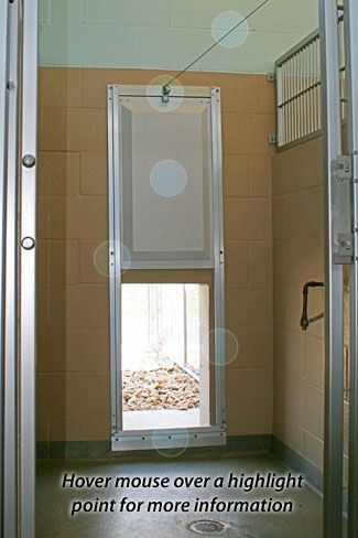 external vertical sliding door system guillotine door for kennels