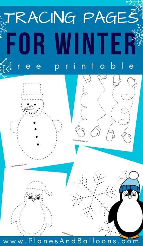 Winter tracing sheets