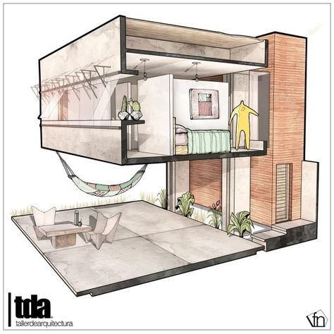 Architectural flow surrealist home illustrations by neyra arch drawmod pinterest illustrators and architecture sketches