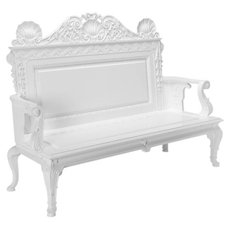 Garden or Hall Benches in the manner of William Kent ...