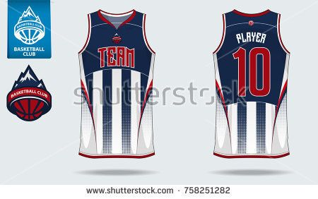 Download Basketball Uniform Or Sport Jersey Template For Basketball Club Front And Back View Sport Basketball Uniforms Design Sports Tshirt Designs Basketball Uniforms