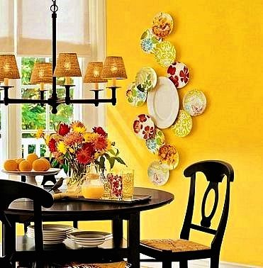 The Secret To Beautiful Kitchen Wall Art In 2020 Plates On Wall Decor Kitchen Decor Yellow Walls