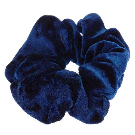 Claire's Velvet Hair Scrunchie - Navy #hairscrunchie Claire's Velvet Hair Scrunchie - Navy