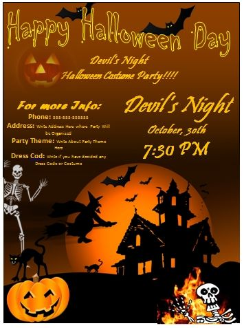 Free Printable Halloween Flyer Templates Halloween Invitation Templates Halloween Invitation Template Halloween Invitations