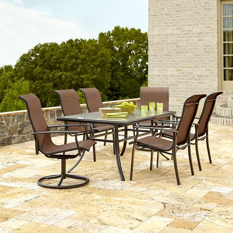 299 99 Garden Oasis Harrison 7 Piece Dining Set With Uv Protected