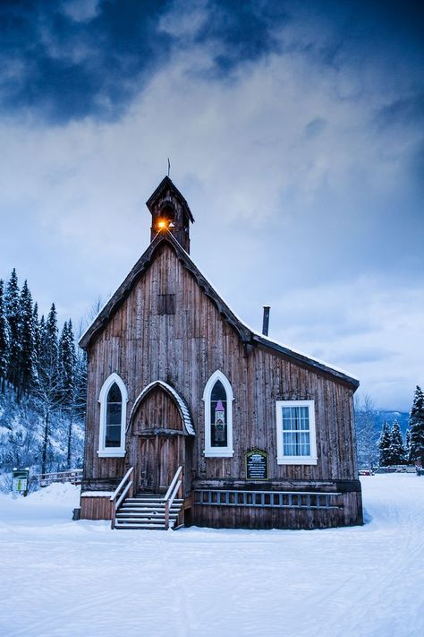 Saviour's Anglican Church, Bakerville, British Columbia, Canada by Robert Downie. Abandoned Churches, Old Churches, Abandoned Cities, Architecture Religieuse, Church Pictures, Old Country Churches, Anglican Church, Take Me To Church, Church Architecture