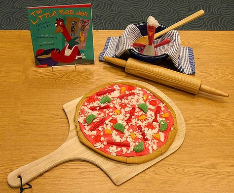Little Red Hen (Makes a Pizza) - 2009 entry in the Edible Book Festival