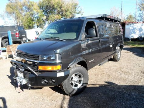 Chevy Express 2wd With Lift Kit And Camper Conversion Solar