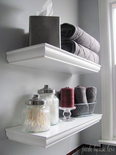 Love These Shelves Above The Toilet Floating Floating Shelves Bathroom Shelves Over Toilet Shelves