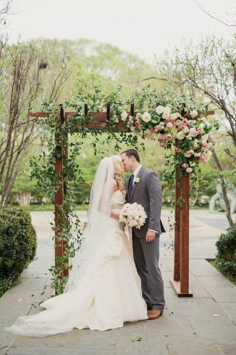 Stunning floral-adorned arbor: http://www.stylemepretty.com/texas-weddings/dallas/2015/08/10/dreamy-romantic-dallas-garden-wedding-in-shades-of-pink/ | Photography: Apryl Ann - http://www.aprylann.com/