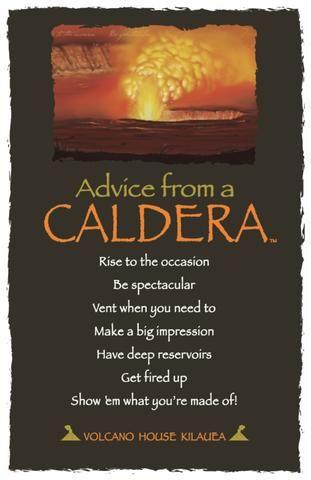 Advice From A Caldera Laminated Bookmark Your True Nature Inc