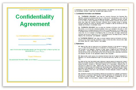wwwmstemplate confidentiality-agreement-templatehtml - volunteer confidentiality agreement