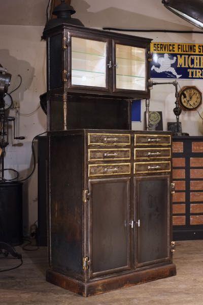 Renaud Jaylac Brocantes Antiquites Industrielles Meuble De Metier D Atelier Meuble De Metier Decoration Style Industriel Mobilier De Salon
