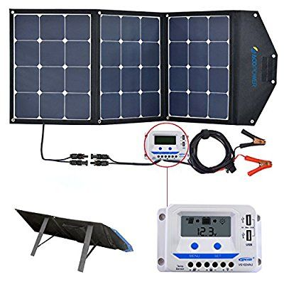 Amazon Com Acopower 120w Portable Solar Panel 12v Foldable Solar Charger With 10a Lcd Charge Control Portable Solar Panels Best Solar Panels Solar Panel Cost