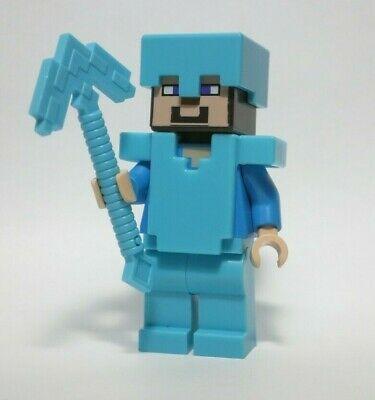 Lego Minecraft Diamond Armor Steve minifigure 21117 NEW
