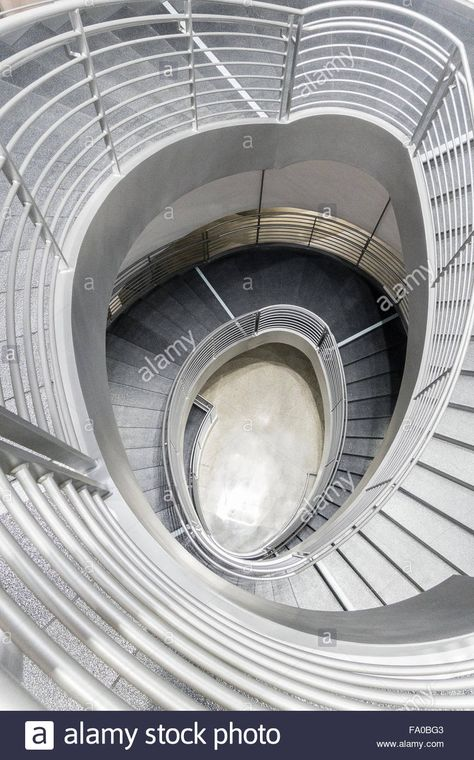 Spiral Stairs At The Petersen Automotive Museum In Los Angeles   Spiral Staircase Los Angeles   Old Fashioned   Most Efficient   Double Spiral   Rome   Topanga Canyon