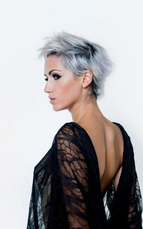 korta gråa frisyrer