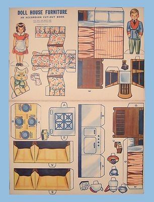 Cool 1940S Doll House Furniture Accordion Cut Out Book Download Free Architecture Designs Meptaeticmadebymaigaardcom
