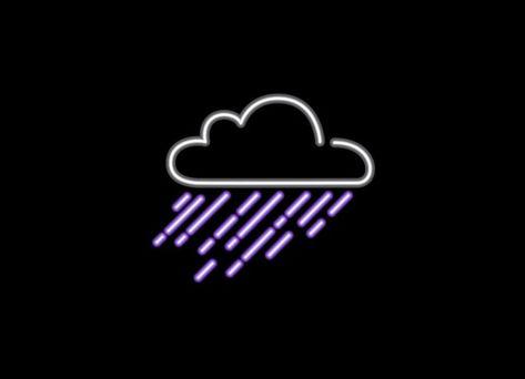 Check out the design Purple Rain by Rodrigo Leonardo Batista Ferreira available on Men's T-Shirt on Threadless Baby Blue Aesthetic, Dark Purple Aesthetic, Aesthetic Light, Wallpaper Iphone Neon, Purple Wallpaper, Aesthetic Iphone Wallpaper, Neon Wall Signs, Neon Light Signs, Rain Logo