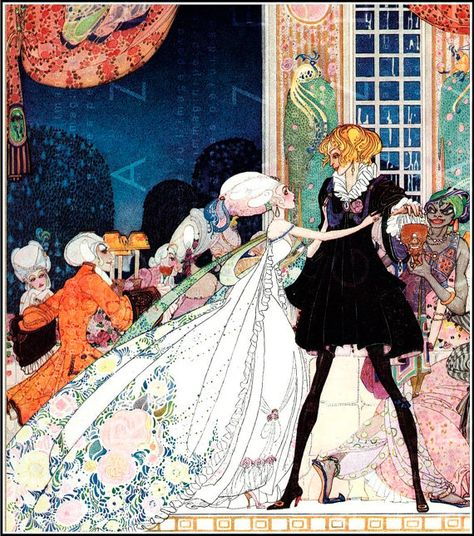 Illustration by Kay Nielsen from The Twelve Dancing Princesses.' cried out the little Princess, springing to her feet; 'I would rather marry a gardener! Kay Nielsen, Art And Illustration, Botanical Illustration, Princess Illustration, Fairy Tale Illustrations, Inspiration Art, Art Inspo, Fantasy Kunst, Fantasy Art